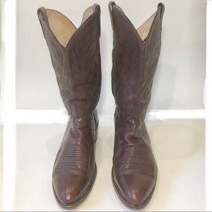 Dan Post brown leather cowboy boots. Sz12